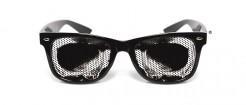 Totenschädel-Augenhöhlen Halloween-Brille Kostümzubehör schwarz