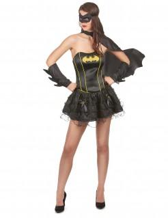 Batgirl™-Damenkostüm Faschingskostüm schwarz-gelb