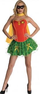 Sexy Robin™-Damenkostüm rot-gelb-grün
