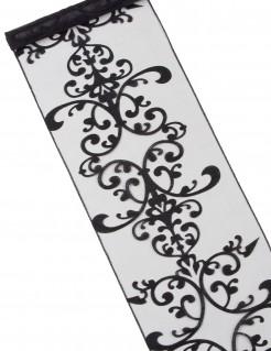 Gothic Tischläufer Ornament-Muster Halloween-Deko schwarz 25x100cm