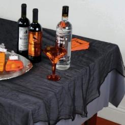 Grusel-Tischdecke Halloween-Deko-Tuch schwarz 210x150cm