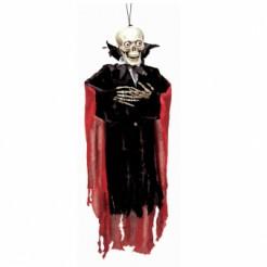 Vampir-Skelett Halloween-Hängedeko schwarz-rot 99cm