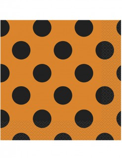 Papierservietten Halloween Servietten 20 Stück orange-schwarz 33x33cm