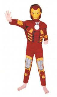 Plastisches Iron Man™-Kinderkostüm rot-gelb-weiss
