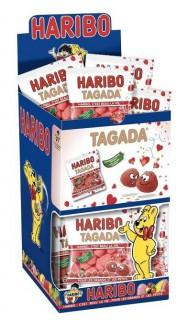 Haribo Tagada Minibeutel mit Erdbeergeschmack rot 40g