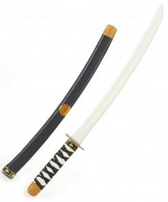 Samurai-Schwert für Kinder Spielzeug-Katana weiss-schwarz-gold