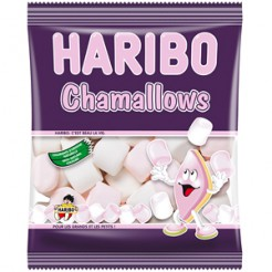Haribo Chamallows Marshmallow Süßigkeiten weiss-rosa 100g