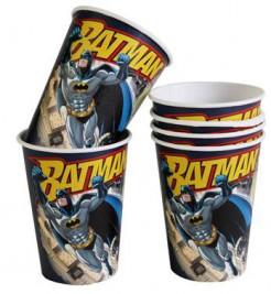 Batman™-Pappbecher 6 Stück bunt 250ml