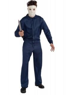 Michael Myers™-Kostüm Halloween™-Lizenzkostüm mit Maske blau