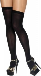 Overknees-Strümpfe Damenstrümpfe schwarz