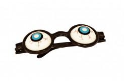 Glubschaugen-Brille verrückter Wissenschaftler weiß-schwarz-blau