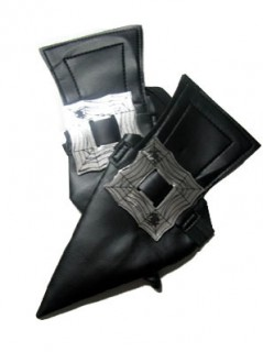 Hexen-Schuhüberzieher für Erwachsene Kostümaccessoire schwarz-silber