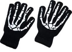 Skelett-Handschuhe schwarz-weiss