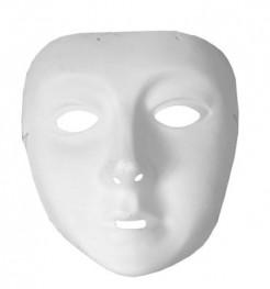 Halbmaske für Kinder weiss