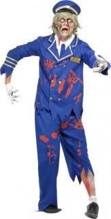 Zombie Pilot Kapitän Kostüm blau-weiss-rot