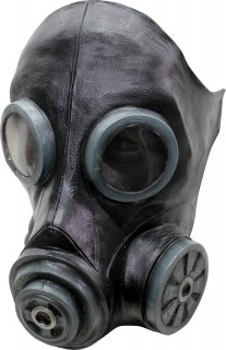 Gasmaske für Erwachsene schwarz