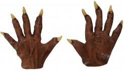 Halloween Werwolf-Handschuhe Tierkostüm Accessoire