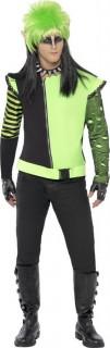Punk Elf Halloween Kostüm schwarz-grün