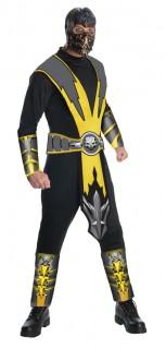 Mortal Kombat™ Scorpion-Kostüm für Herren Ninja-Kostüm schwarz-gelb