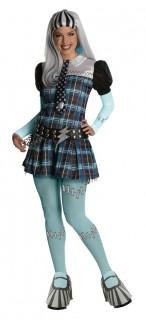 Frankie Stein-Damenkostüm Monster High™-Lizenzkostüm blau