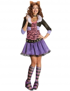 Monster High Clawdeen™-Kostüm für Damen Halloween violett