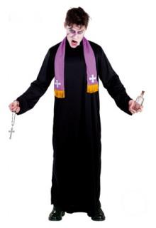 Pater Karras Herrenkostüm Der Exorzist Lizenzkostüm schwarz-lila