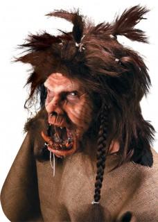 Böser Troll Halloween Schmink-Set Ork 4-teilig hautfarbe