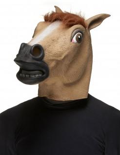 Grauenerregende Pferd-Maske Halloween-Maske braun-schwarz