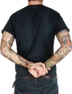 Tattoo-Ärmel Rocker Kostümaccessoire bunt