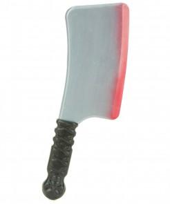 Blutiges Fleischerbeil Halloween-Waffe grau-schwarz-rot 38x10cm