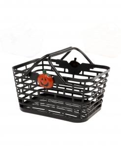 Schwarzer Halloween Bonbon-Korb schwarz
