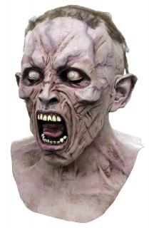 Zombie World War Z - Maske Halloween Kostümaccessoire grau