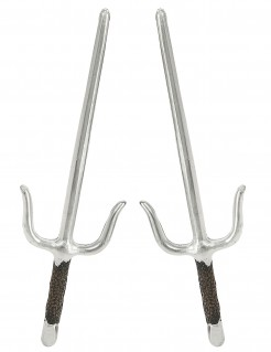 Sai Asia Dolche Deko 2er-Set grau-schwarz 42cm