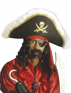 Piraten Bartset scharz