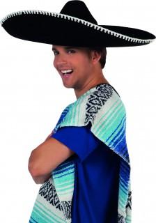 Großer Sombrero für Erwachsene schwarz