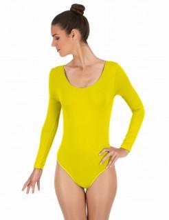 Elastischer Body langarm gelb