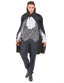 Vornehmer Vampir Halloween Kostüm für Männer schwarz-weiss