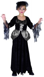 Halloween-Kinderkostüm Schwarze Witwe schwarz-grau