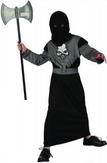 Henker-Kinderkostüm Mittelalterliches Scharfrichterkostüm grau-schwarz