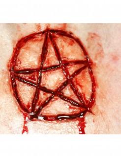 Wunde Abziehbild Pentagramm rot