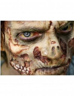 Zombie-Wunden Abziehbilder 4er-Set grün-rot