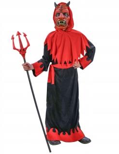 Düsterer Teufel Kinderkostüm rot-schwarz