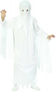 Gruseliger Geist Halloween-Kinderkostüm Gespenst weiss