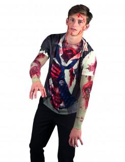 Gruseliger Zombie Halloween T-Shirt bunt