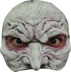 Vampir Latex-Halbmaske für Halloween grau-rot