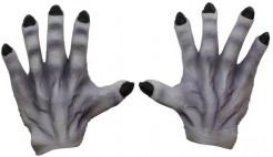 Monsterhände Kostümzubehör grau