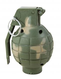 Spielzeug-Handgranate mit Soundeffekten Halloween-Accessoire grün 10cm