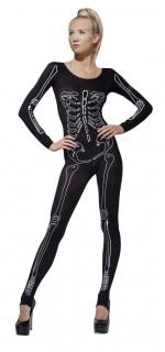 Skelett Halloween Bodysuit schwarz-weiss