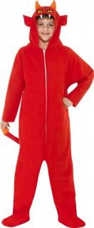Teufel Kinder-Kostüm Overall rot
