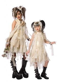 Mumien-Paarkostüm für Mutter und Tochter beige